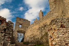Swimming ruins of the castle, Little Carphatian, Stock Images