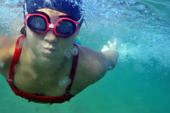 Swimming in sea Royalty Free Stock Photography