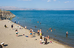Swimming in Sea of Galilee Royalty Free Stock Images