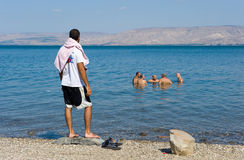 Swimming in Sea of Galilee Royalty Free Stock Image