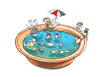 Swimming season. Royalty Free Stock Photos