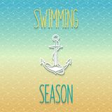 Swimming season design Stock Photo
