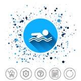 Swimming sign icon. Pool swim symbol. Stock Photography