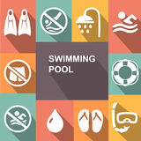 Swimming sign icon. Pool swim symbol. Sea wave Royalty Free Stock Photography