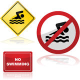 Swimming signs Royalty Free Stock Photography