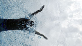 Swimming - Sport. Sport man swimming in butterfly Royalty Free Stock Photos