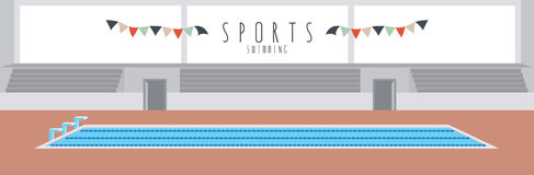 Swimming (Sports). Vector illustration of a swimming pool Stock Images