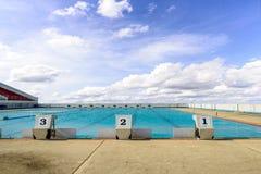 Swimming start platform Stock Images