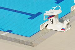 Swimming Starting Block Royalty Free Stock Photos