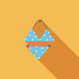 Swimming suit flat icon with long shadow Stock Image