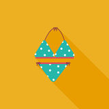 Swimming suit flat icon with long shadow Royalty Free Stock Photos