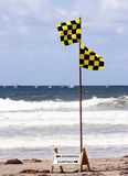 Swimming or surfing?. Swimming / surfing sign at the beach Stock Photography