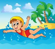 Swimming theme image 2 Stock Image