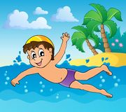 Swimming theme image 4 Royalty Free Stock Photos