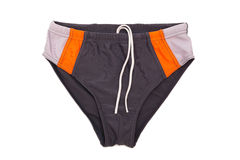 Swimming trunks. Beautiful swimming trunks on a white background royalty free stock images