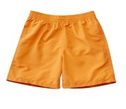 Swimming Trunks with clipping path. Orange Swimming Trunks with clipping path isolated on white royalty free stock photos