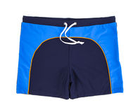 Swimming trunks. Isolated on a white background Stock Photos