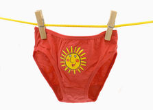Swimming trunks linen - sun Stock Image
