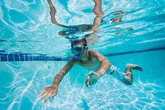 Swimming Under Water In Pool stock photography