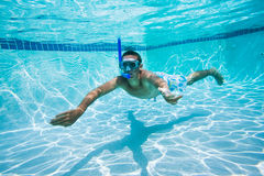 Swimming Under Water In Pool Stock Photo