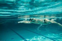 Swimming  underwater Stock Photo