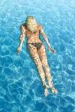 Swimming underwater Royalty Free Stock Photo