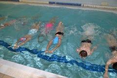 Swimming underwater Royalty Free Stock Image