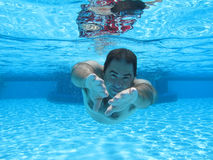 Swimming underwater photo Royalty Free Stock Photos