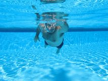 Swimming underwater photo Royalty Free Stock Photo