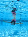 Swimming underwater photo Stock Photography