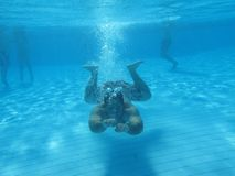 Swimming underwater photo Stock Photo