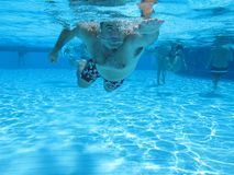 Swimming underwater photo Royalty Free Stock Images