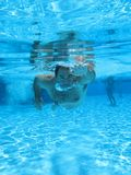 Swimming underwater photo Royalty Free Stock Image