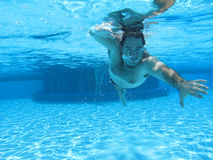 Swimming underwater photo Royalty Free Stock Photography