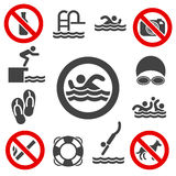 Swimming vector icons Stock Photos