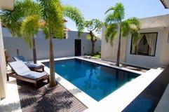 Swimming in villa Stock Image
