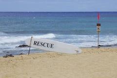 Swimming Warning Beach Royalty Free Stock Photo