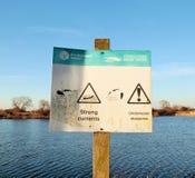 Swimming warning Stock Photos