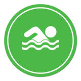 Swimming water sport icon Stock Image