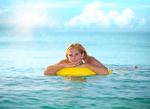 Swimming woman Royalty Free Stock Photos