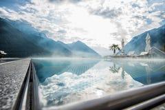 Swimmingpool bei Achensee Stockbilder