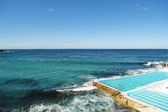 Swimmingpool in Bondi-Strand Stockfotografie