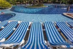 Swimmingpool in Cancun, Riviera-Maya, Mexiko Lizenzfreies Stockbild
