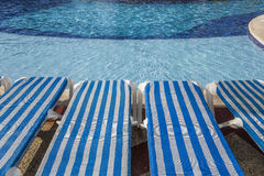 Swimmingpool in Cancun, Riviera-Maya, Mexiko Stockbilder