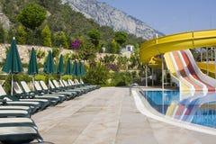 Swimmingpool in der Türkei stockfoto