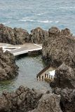 Swimmingpool des Meerwassers, Madeira Lizenzfreies Stockbild