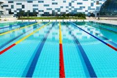 Swimmingpool im Freien Stockfotografie