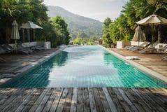 Swimmingpool im Freien Stockfoto