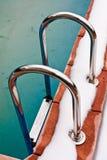 Swimmingpool im Winter Lizenzfreies Stockfoto