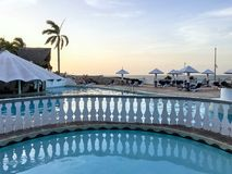 Swimmingpool an Kubaner-Sol Rio de Luna Mares-Erholungsort stockfotografie